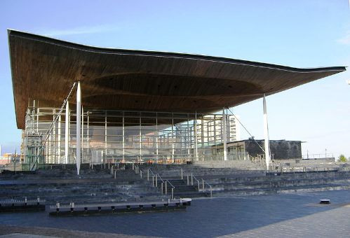 Senned building - home of the National Assembly for Wales in Cardiff - see page for author [see page for license], via Wikimedia Commons